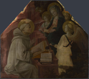 Saint Bernard's Vision of the Virgin | Fra Filippo Lippi | oil painting