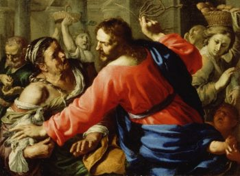 Christ Cleansing the Temple | Bernardino Mei | oil painting