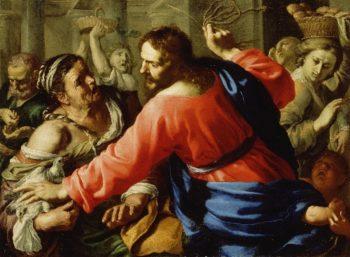 Christ Cleansing the Temple | Bernardino Mei | oil painting