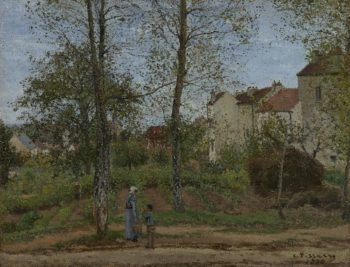 Houses at Bougival (Autumn) | Camille Pissarro | oil painting