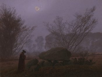 A Walk at Dusk | Caspar David Friedrich | oil painting