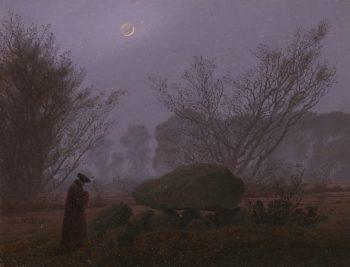 A Walk at Dusk | Caspar David Friedrich | oil painting