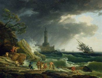 A Storm on a Mediterranean Coast | Claude Joseph Vernet | oil painting