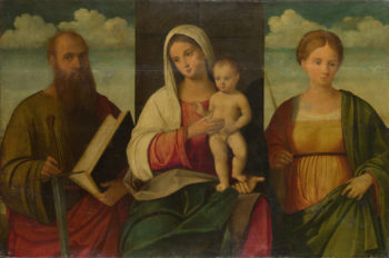 The Virgin and Child and Saints | Francesco Bissolo | oil painting