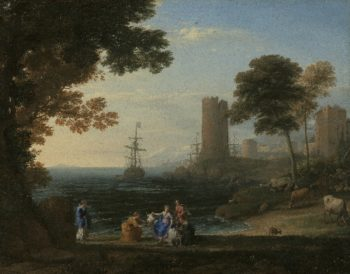 Coast View with the Abduction of Europa | Claude Lorrain | oil painting