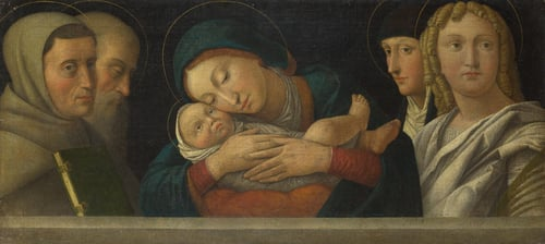 The Virgin and Child with Four Saints   Francesco Bonsignori   oil painting