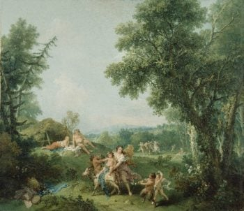 Landscape with the Education of Bacchus | Francesco Zuccarelli | oil painting