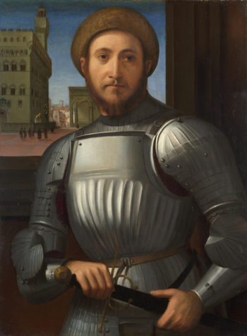 Portrait of a Man in Armour | Francesco Granacci | oil painting