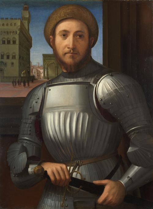 Portrait of a Man in Armour | Francesco Granacci | oil painting