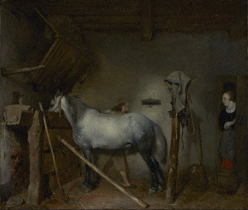 Horse Stable | Gerard ter Borch | oil painting