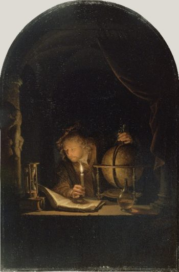 Astronomer by Candlelight | Gerrit Dou | oil painting