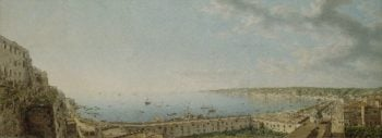 A View of the Bay of Naples Looking Southwest from the Pizzofalcone towards Capo di Posilippo | Giovanni Battista Lusieri | oil painting