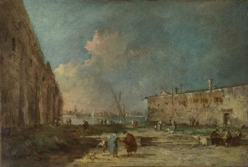 A View near Venice | Francesco Guardi | oil painting