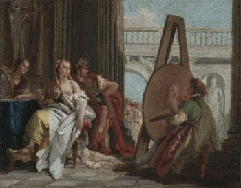 Alexander the Great and Campaspe in the Studio of Apelles | Giovanni Battista Tiepolo | oil painting