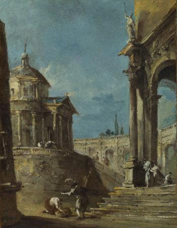 An Architectural Caprice (1) | Francesco Guardi | oil painting