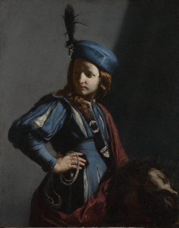 David with the Head of Goliath   Guido Cagnacci   oil painting