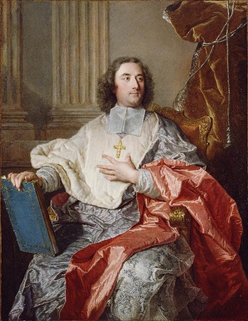 Charles de Saint Albin Archbishop of Cambrai   Hyacinthe Rigaud   oil painting