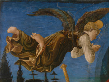 Angel (Left Hand) | Francesco Pesellino and completed by Fra Filippo Lippi and workshop | oil painting