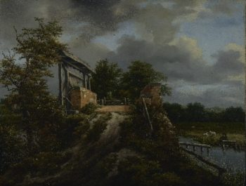 Bridge with a Sluice | Jacob van Ruisdael | oil painting