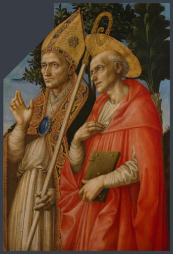 Saints Zeno and Jerome | Francesco Pesellino and completed by Fra Filippo Lippi and Workshop | oil painting