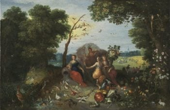 Landscape with Allegories of the Four Elements | Jan Brueghel the Younger | oil painting