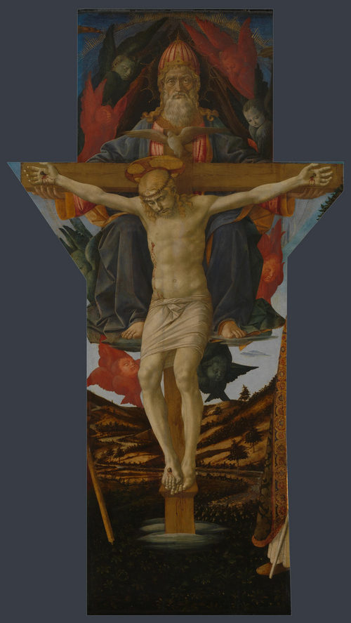 The Trinity | Francesco Pesellino and completed by Fra Filippo Lippi and workshop | oil painting