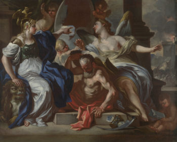 An Allegory of Louis XIV | Francesco Solimena | oil painting