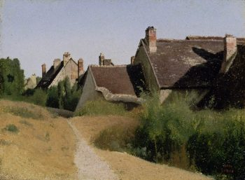 Houses near Orleans (Maisons aux Environs d Orleans) | Jean Baptiste Camille Corot | oil painting