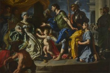Dido receiving Aeneas and Cupid disguised as Ascanius | Francesco Solimena | oil painting