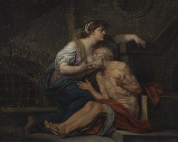 Cimon and Pero Roman Charity | Jean Baptiste Greuze | oil painting