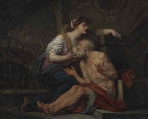 Cimon and Pero Roman Charity | Jean Baptiste Greuze | oil painting