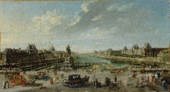 A View of Paris from the Pont Neuf | Jean Baptiste Raguenet | oil painting