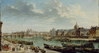 A View of Paris with the Ile de la Cite | Jean Baptiste Raguenet | oil painting