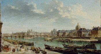 A View of Paris with the Ile de la Cite | Jean Baptiste Raguenet | oil painting