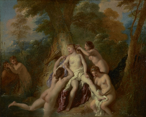 Diana and Her Nymphs Bathing | Jean Francois de Troy | oil painting