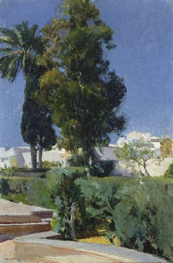 Corner of the Garden Alcazar Sevilla | Joaquin Sorolla y Bastida | oil painting
