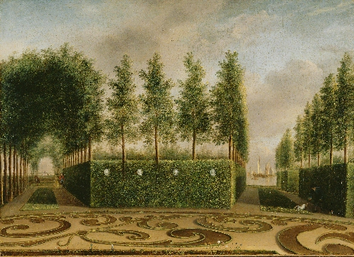 A Formal Garden | Johannes Janson | oil painting