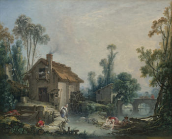Landscape with a Watermill | Francois Boucher | oil painting