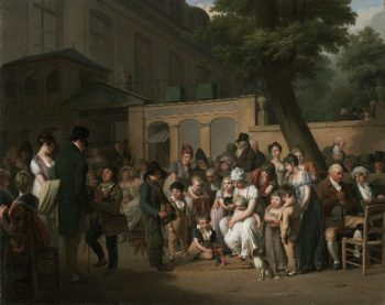 Entrance to the Jardin Turc | Louis Leopold Boilly | oil painting