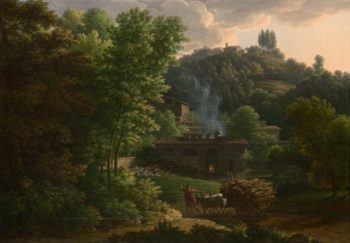 Italian Landscape | Francois-Xavier Fabre | oil painting