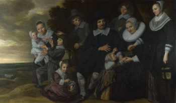 A Family Group in a Landscape | Frans Hals | oil painting