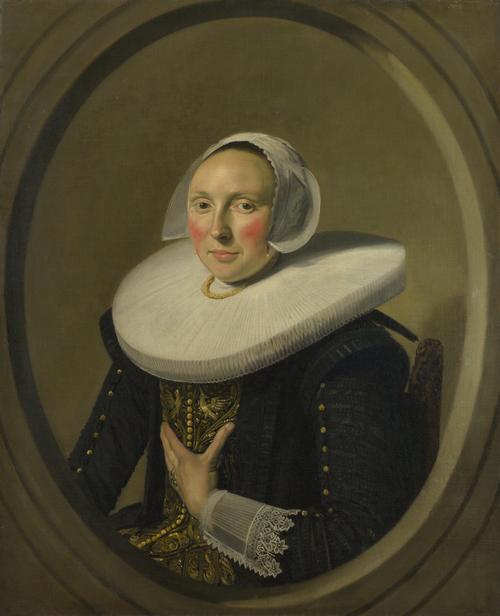 Portrait of a Woman (Marie Larp) | Frans Hals | oil painting