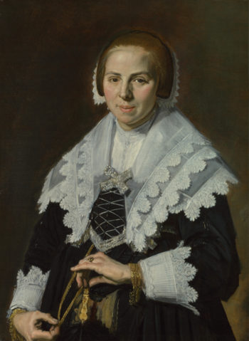 Portrait of a Woman with a Fan | Frans Hals | oil painting
