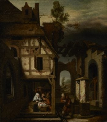 Adoration of the Shepherds | Nicolaes Maes | oil painting