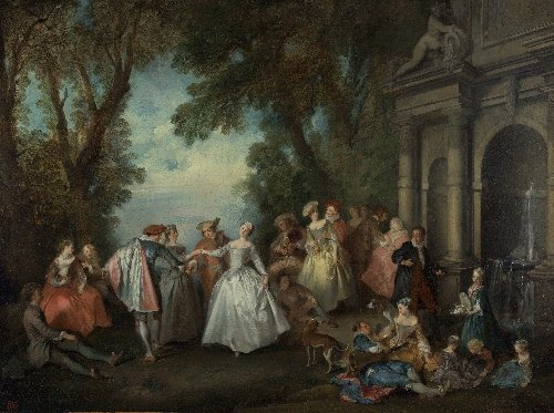 Dance before a Fountain   Nicolas Lancret   oil painting