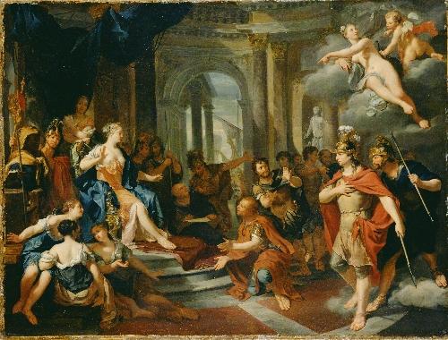 Dido and Aeneas   Nicolas Verkolye   oil painting