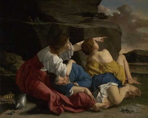 Lot and his Daughters   Orazio Gentileschi   oil painting