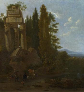 A Landscape with Classical Ruins | Frederick de Moucheron | oil painting