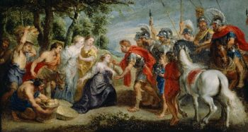 David Meeting Abigail | Peter Paul Rubens | oil painting