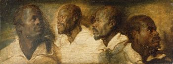 Four Studies of a Male Head | Peter Paul Rubens | oil painting